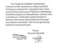 Wojciech Goslinski - referencje - CD Partner