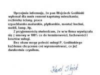 Wojciech Goslinski - referencje - Karol Stojek