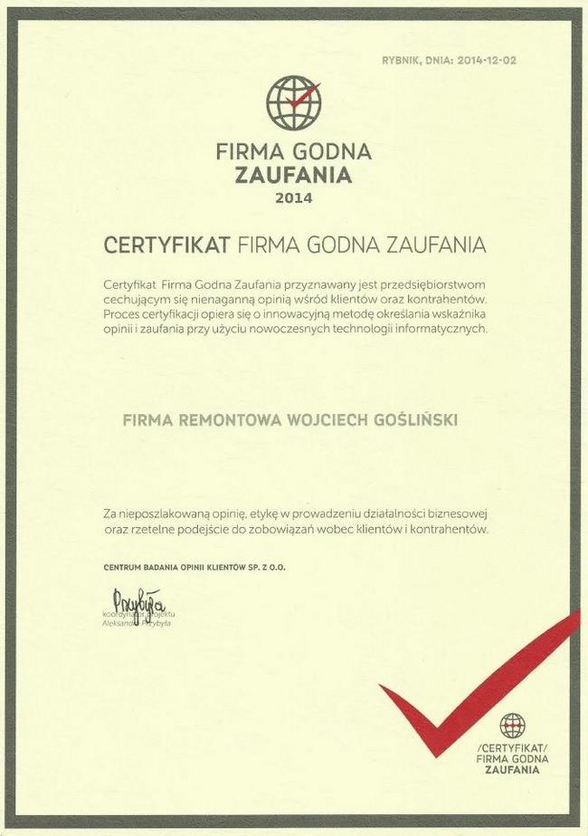 Wojciech-Goslinski-opinie-firma-remontowa-certyfikat-firma-godna-zaufania