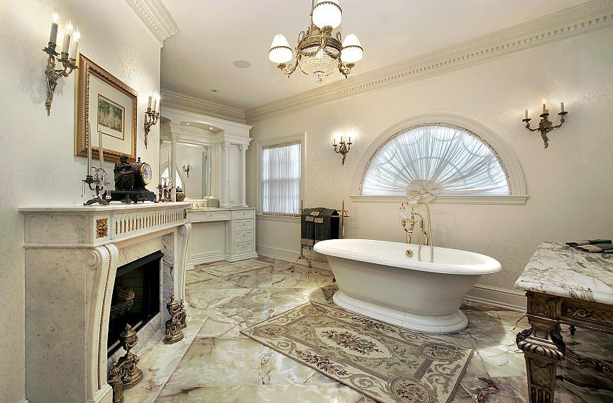 barokowe akcenty w łazience