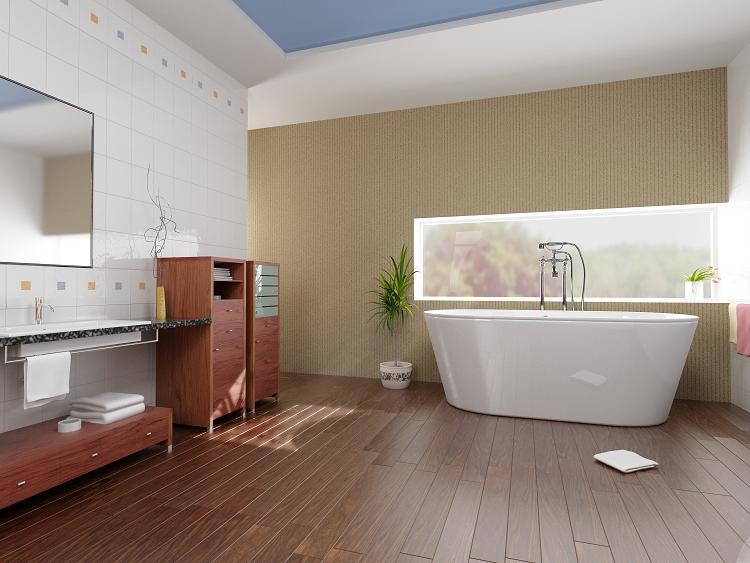 drewniana pod oga w azience wojciech go li ski. Black Bedroom Furniture Sets. Home Design Ideas