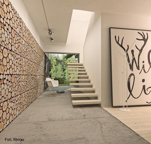 drewniane panele ścienne piękne i naturalne pieńki