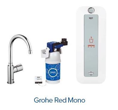 filtrowana woda gazowana lub wrzątek z baterii zlewozmywakowej