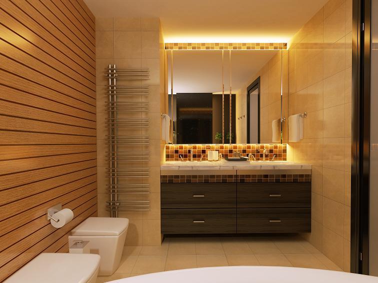funkcja luster i światła w łazience