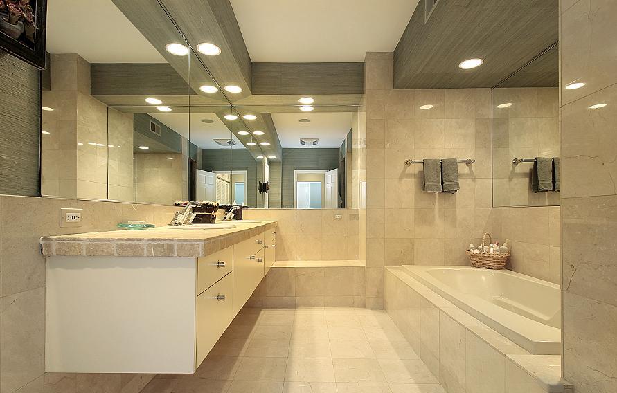 jak urządzić łazienkę oświetlenie strona wizualna i użytkowa