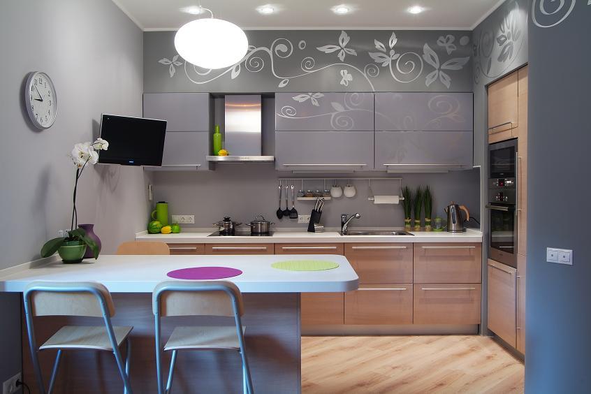 Kuchnia, łazienka  Abartremonty -> Kuchnia Tapeta Czy Farba