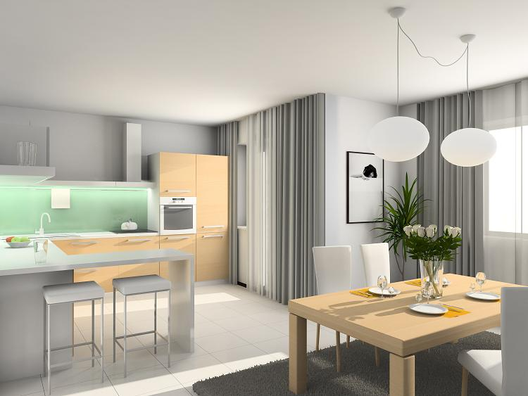 Kuchnia otwarta na salon  Abartremonty -> Kuchnia A Salon