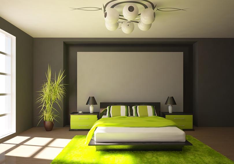 łóżko i materac w sypialni