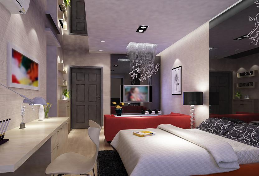nowoczesna wielofunkcyjna sypialnia