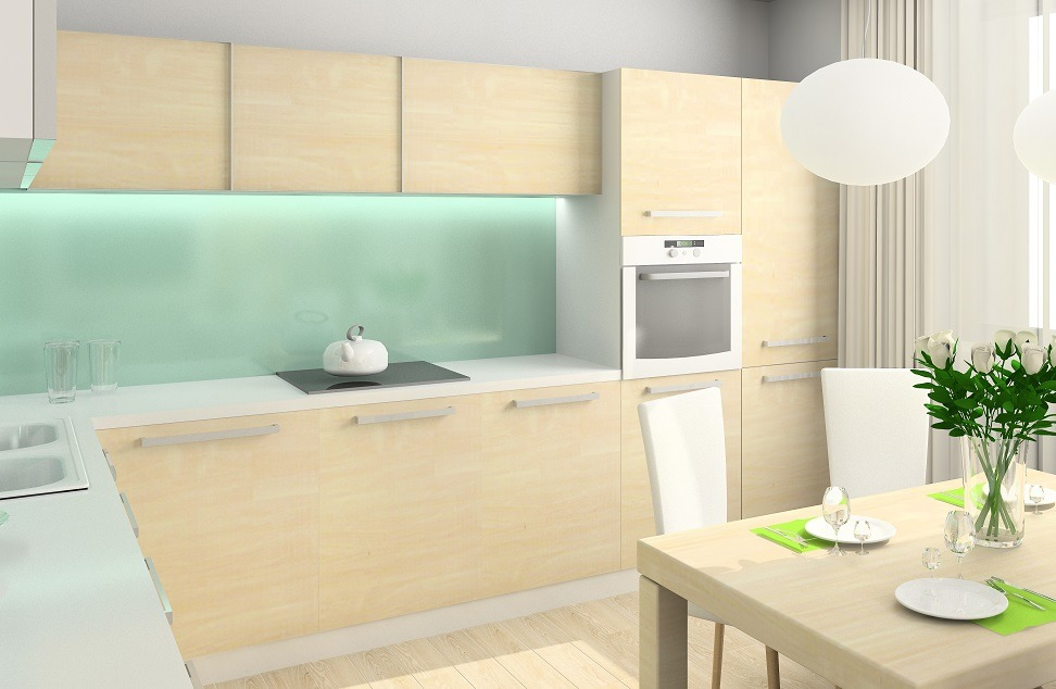 pomysł na ścianę nad blatem kuchennym
