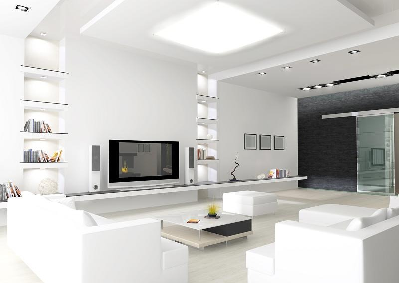Salon w bieli wojciech go li ski for Interior woodwork designs in hyderabad