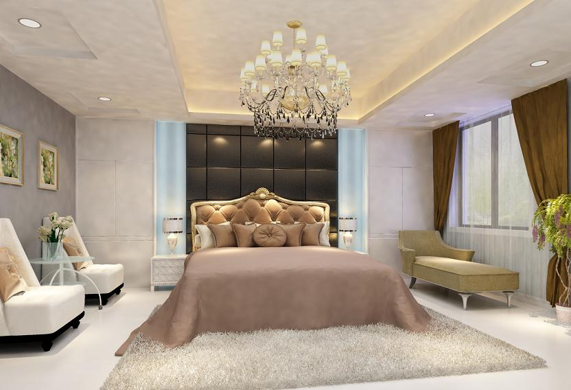 Styl glamour w sypialni, perełce designerskiej.
