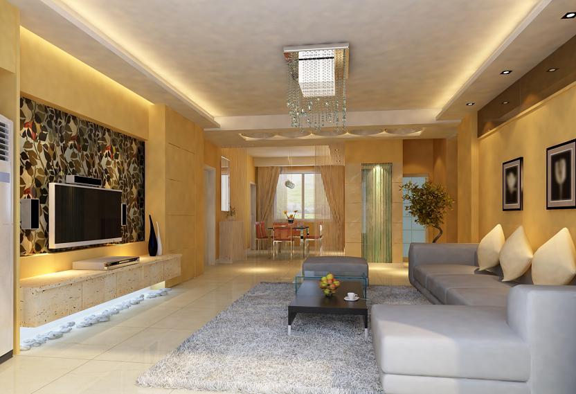 Wykończenie i dekoracja ściany z telewizorem.