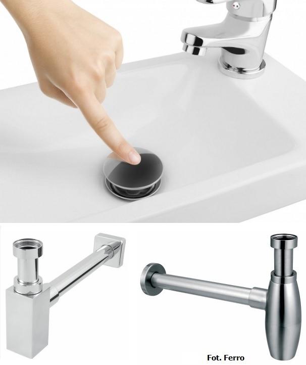 Syfony, korki umywalkowe, zawory - funkcja użytkowa i estetyczna.