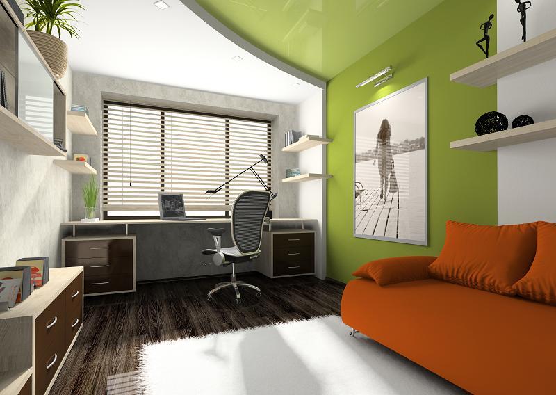 Aranżacja miejsca do pracy w domu, a aspekt barw.