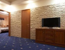 Dekoracje ścian; kamień, tapeta, tynk
